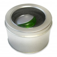 Metal gift box round